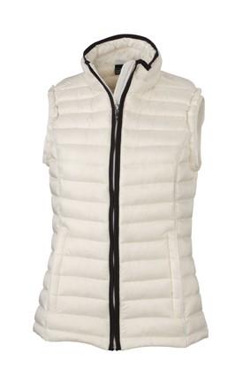 Ladies' Quilted Down Vest, Westen, off-white/black