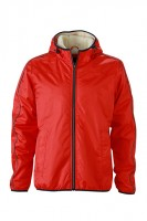 Men's Winter Sports Jacket, Jacken, light-red/off-white