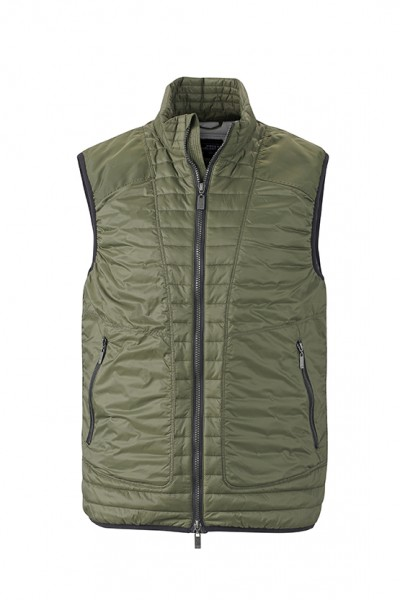 Men's Lightweight Vest, Westen, olive/silver