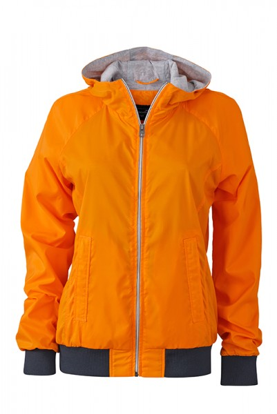 Ladies' Sports Jacket, Jacken, orange/navy