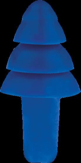 Detektierbare Gehörschutzstöpsel für die Lebensmittelindustrie Blue
