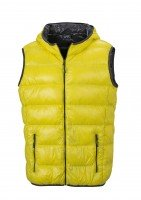 Men's Down Vest, Westen, yellow/carbon