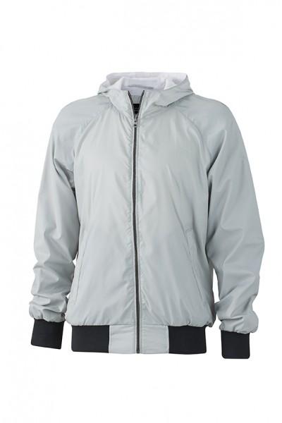 Men's Sports Jacket, Jacken, silver/black