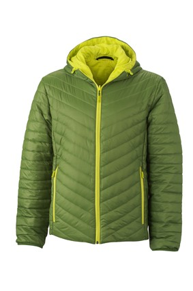 Men's Lightweight Jacket, Jacken, jungle-green/acid-yellow