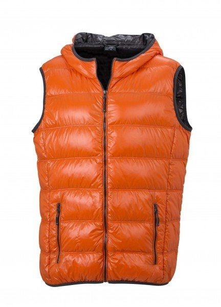 Men's Down Vest, Westen, dark-orange/carbon