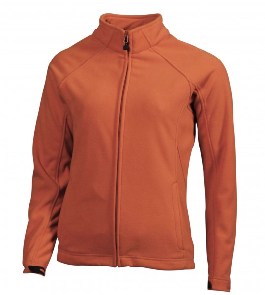 Ladies' Bonded Fleece Jacket, Jacken, orange/carbon