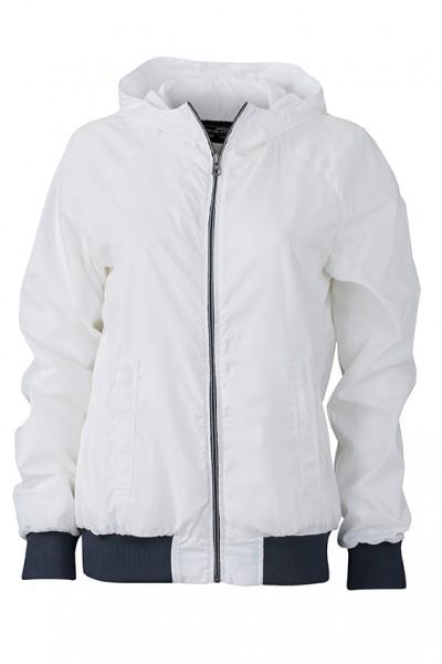 Ladies' Sports Jacket, Jacken, white/navy