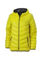 Ladies' Down Jacket, Jacken, yellow/carbon