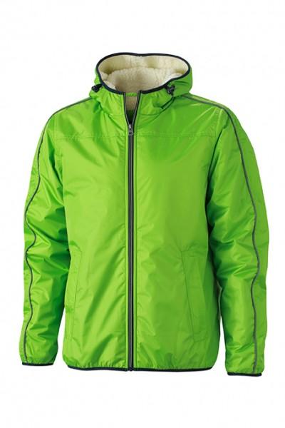Men's Winter Sports Jacket, Jacken, spring-green/off-white