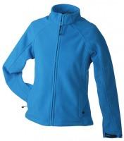 Ladies' Bonded Fleece Jacket, Jacken, aqua/navy