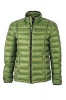 Men's Quilted Down Jacket, Jacken, jungle-green/black
