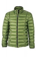Men's Quilted Down Jacket, Jacken, jungle-green/black