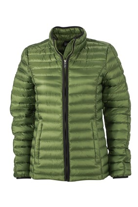 Ladies' Quilted Down Jacket, Jacken, jungle-green/black
