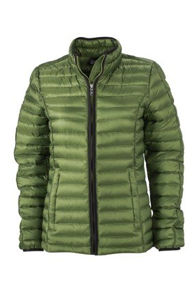 Ladies' Quilted Down Jacket, Jacken, jungle-green/black