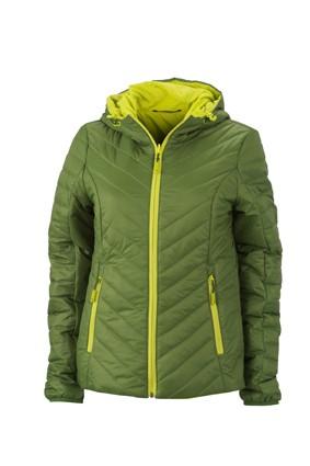 Ladies' Lightweight Jacket, Jacken, jungle-green/acid-yellow