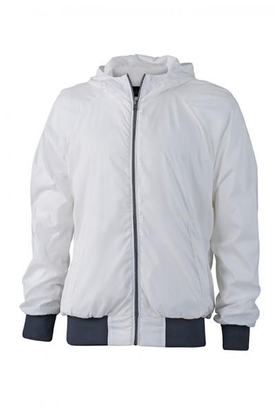 Men's Sports Jacket, Jacken, white/navy