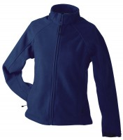 Ladies' Bonded Fleece Jacket, Jacken, navy/red