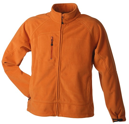 Men's Bonded Fleece Jacket, Jacken, orange/carbon