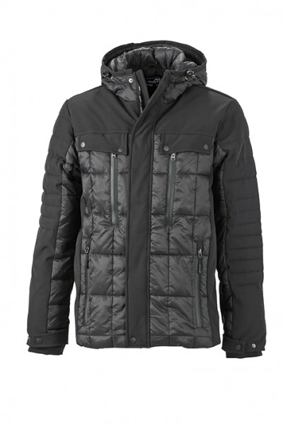 Men's Wintersport Jacket, Jacken, black/black