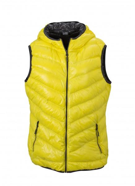 Ladies' Down Vest, Westen, yellow/carbon
