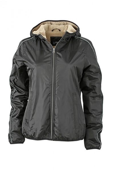 Ladies' Winter Sports Jacket, Jacken, black/camel
