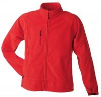 Men's Bonded Fleece Jacket, Jacken, red/carbon
