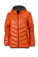 Ladies' Down Jacket, Jacken, dark-orange/carbon