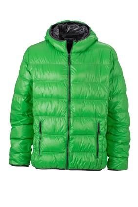 Men's Down Jacket, Jacken, green/carbon