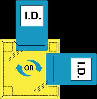 Dual ID-Halter Hitzesiegel Clear