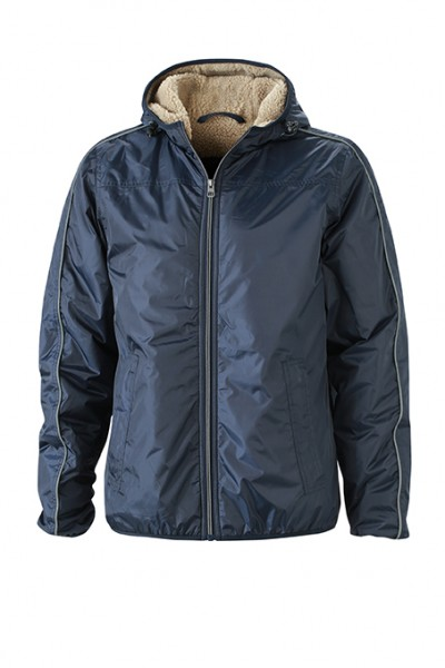 Men's Winter Sports Jacket, Jacken, navy/camel