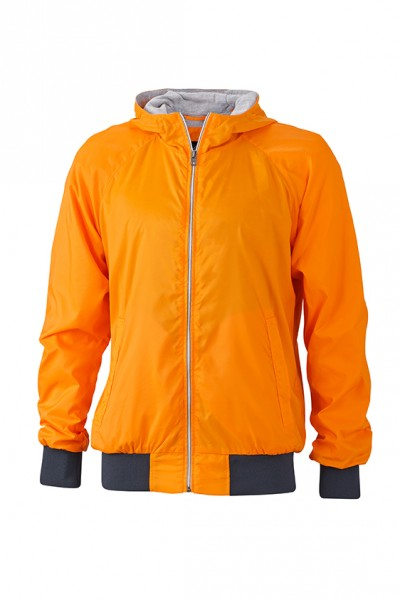Men's Sports Jacket, Jacken, orange/navy