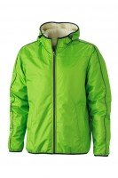 Men's Winter Sports Jacket, Jacken, spring-green/off-white