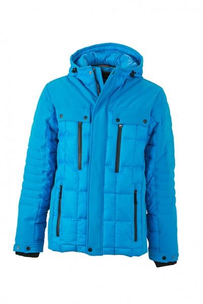 Men's Wintersport Jacket, Jacken, aqua/black