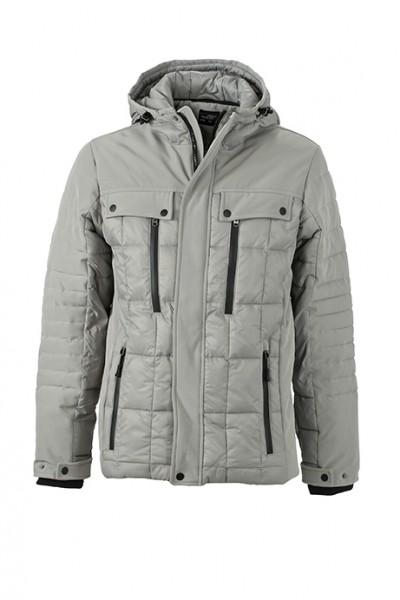 Men's Wintersport Jacket, Jacken, silver/black