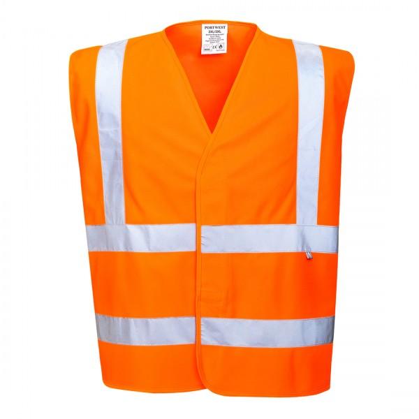Warnschutz-Weste - flammhemmend Orange